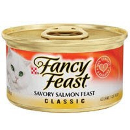 Purina Fancy Feast Classic Savory Salmon Feast Cat Food – (24) 3 oz. Pull-top Can