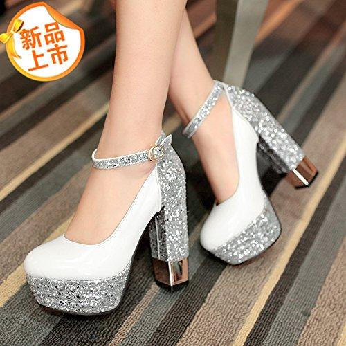 con scarpe scarpe nuova irregolare Taiwan dimensione alta singolo calzature La con impermeabile donna yalanshop nella non tendenza primavera argento 8wgxHqBf