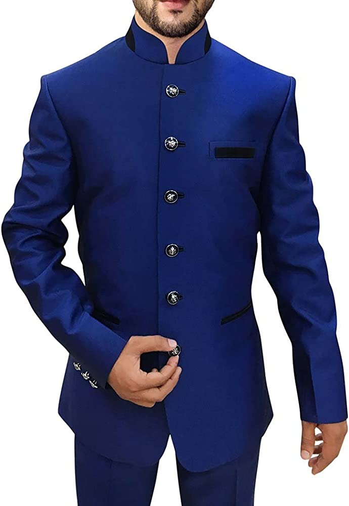Amazon.com: INMONARCH para hombre Royal azul 2 pc Jodhpuri ...