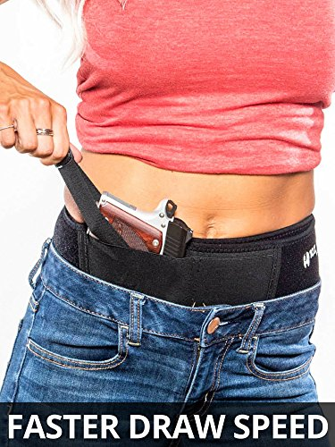 10X TACTICAL Belly Band Holster for Concealed Carry [FASTER DRAW] Men&Women | IWB Gun Belt, Inside Waist | Gun Fit Glock 19 – 43 S&W M&P Shield 40 XDS 9mm 380 LC9 Ruger LCP, Appendix, Shoulder Hip