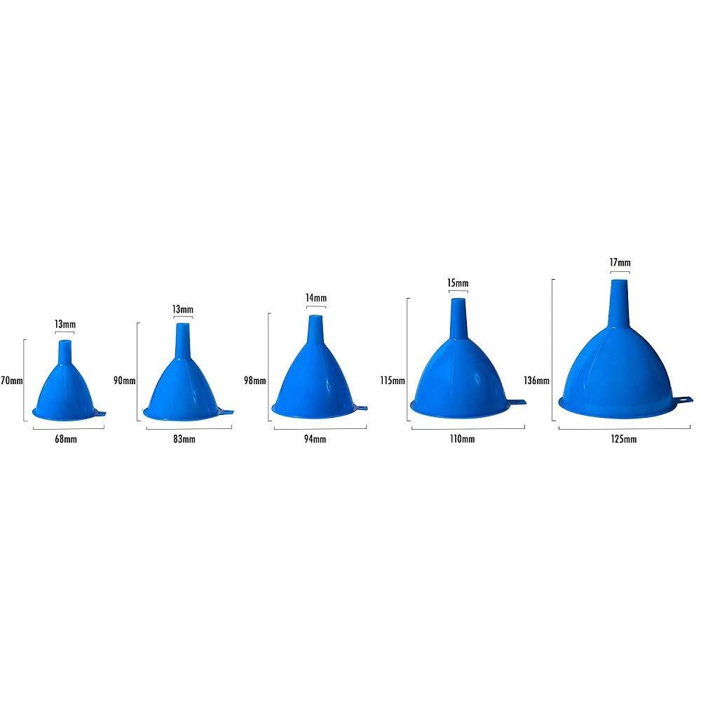 Lot de 4 entonnoirs de 50 mm 70 mm 100 mm 120 mm Entonnoir /à huile entonnoir plastique carburant essence diesel