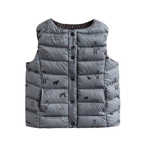 marc janie Girls Boys' Lightweight Packable Down Puffer Vest Eskimos 18 Months -