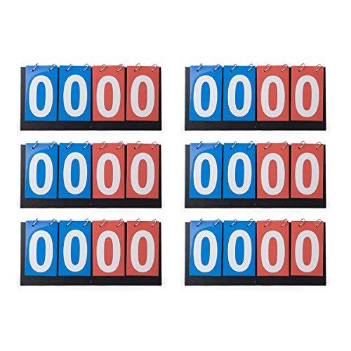 (GOGO 6 Pieces 4-Digital Desktop Scoreboards, Scoreboard Wholesale)