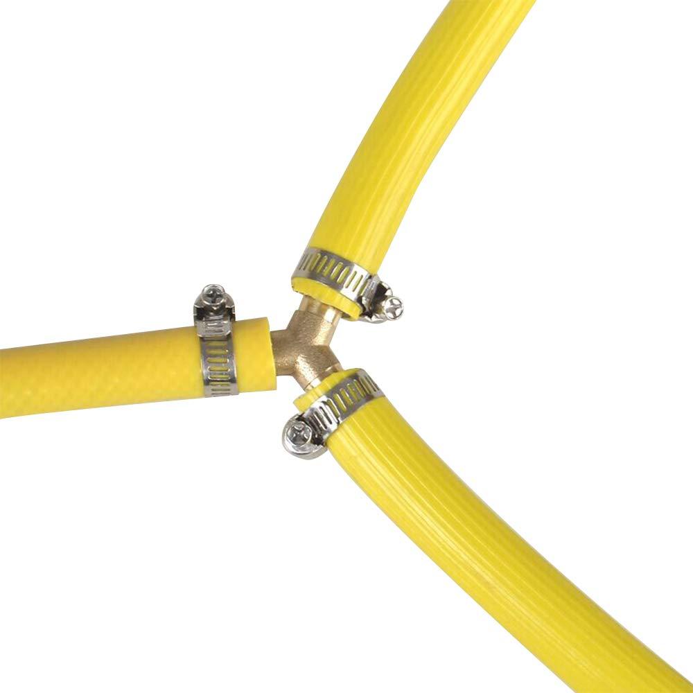 Gas/óleo JUN-H 4PCS Conector de P/úas de la Manguera de Combustible Conector de P/úas de Manguera Neum/ática Conector de Manguera de Combustible para Aire Combustible Agua 6 mm, 8 mm, 10 mm, 12 mm