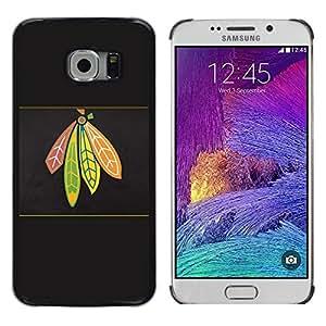 // PHONE CASE GIFT // Duro Estuche protector PC Cáscara Plástico Carcasa Funda Hard Protective Case for Samsung Galaxy S6 EDGE / Jefe indio /