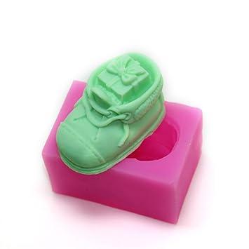 1pc molde de silicona en forma de zapato de Papá Noel pastel de ...