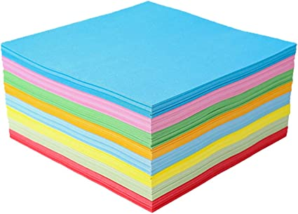 Healifty Papel de Origami de Color 500 Piezas para Manualidades Hoja de Papel Plegable Papel de Colores para Niños (15X15 Cm): Amazon.es: Oficina y papelería