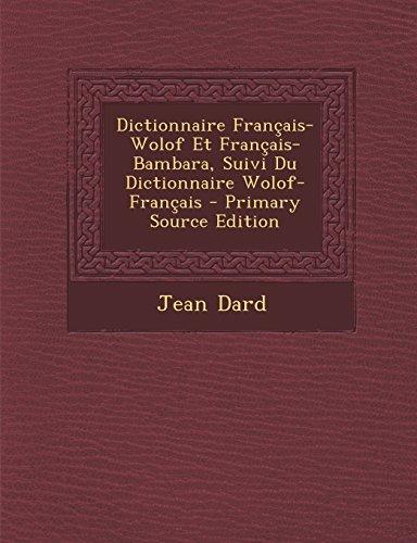 TÉLÉCHARGER DICTIONNAIRE WOLOF FRANCAIS GRATUIT GRATUIT