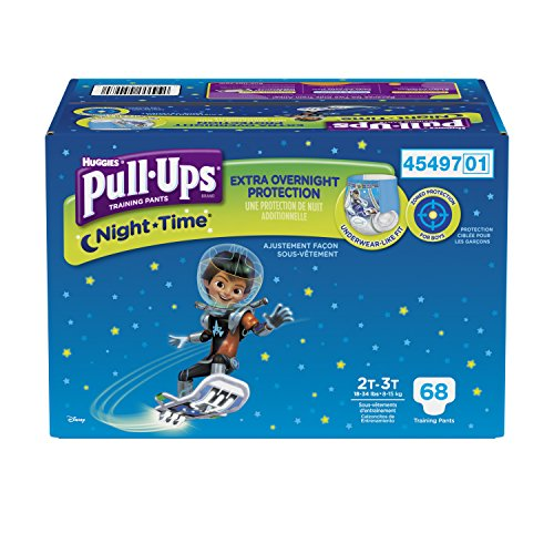 Pull-Ups Night-time Training Pants for Boys, 2T-3T, 68 Count