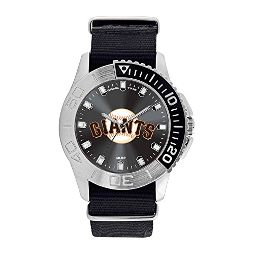 [Game Time Men's 'Starter'  Metal and Nylon Quartz Analog  Watch, Color:Black (Model: MLB-STA-SF)] (Sf Giants Game Schedule)