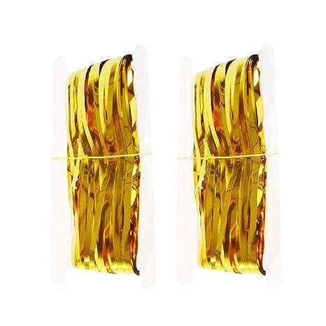 Vosarea - 2 cortinas metálicas para puerta con flecos, para ...