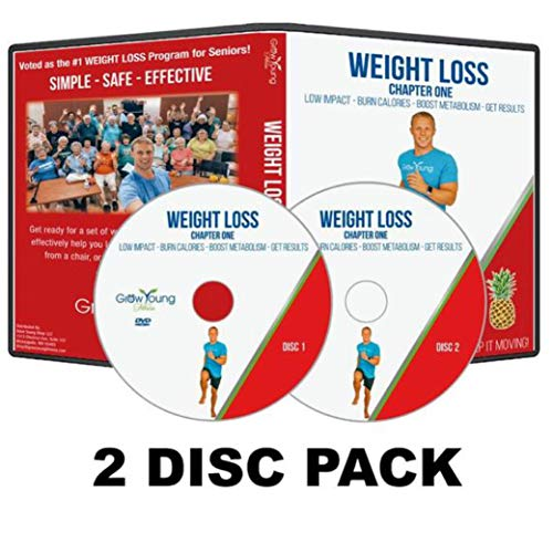 Grow Young Fitness Chair Exercises for Seniors – Two Disc Weight Loss DVD – Simple Safe Effective Weight Loss Workout DVD for Elderly