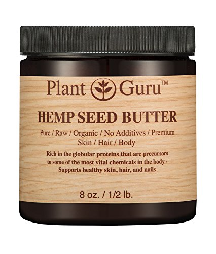 Hemp Body Butter (Hemp Seed Butter 8 oz. 100% Pure Raw Fresh Natural Cold Pressed. Skin Body and Hair Moisturizer, DIY Creams, Balms, Lotions, Soaps.)