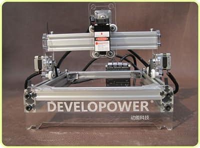 TOPCHANCES Premium Quality DIY Mini Milling Machine Engraving Machine Engraver Cutter DIY Logo Picture Marking Desktop Engraving Carving Machine CNC Router Kit 1720M