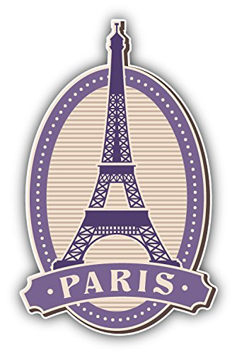 Eiffel Tower Paris France Vintage Label Art Decor Bumper Sticker 3'' x 5'' - France Label