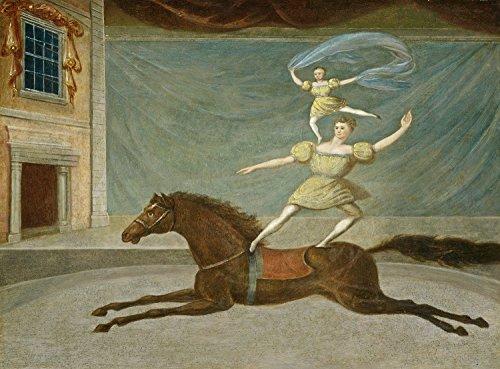 painting-19th-century-american-artist-mounted-acrobats-poster-art-print-lf2993