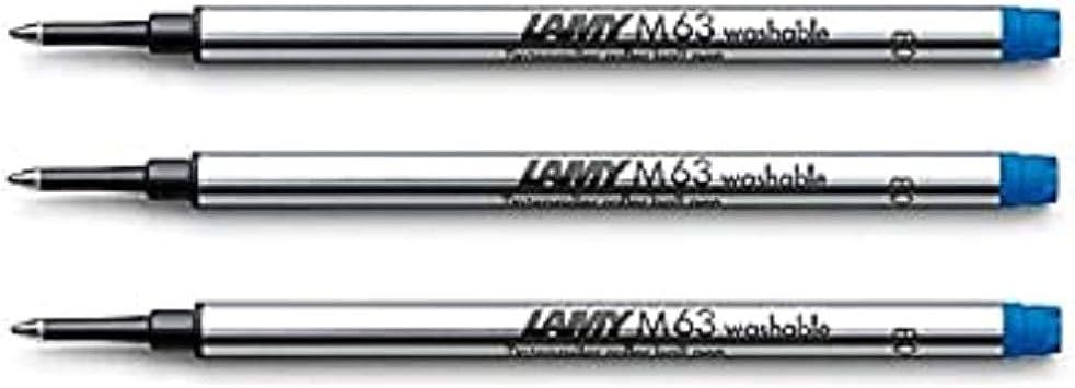 3 x Lamy M63 Rollerball Refill BLUE DB18560