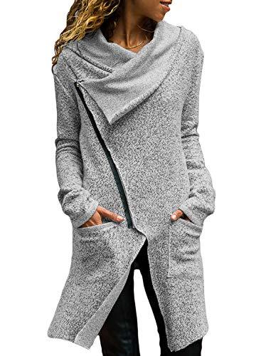 womens cowl neck jacket - 2