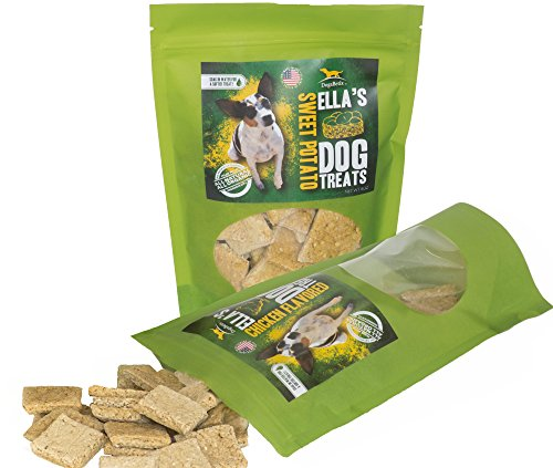 Ella's Diabetic Dog Treats (Combo Pack) 16 oz Sweet Potato and Chicken