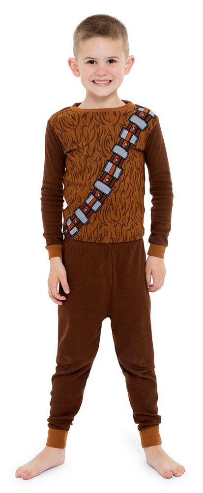 Star Wars Little Boys' 4-Piece Cotton Pajama Set, Black, 6