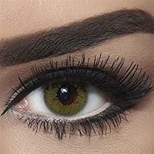 Bella Colored Contact Lenses - Lime Green, Lens Power -4