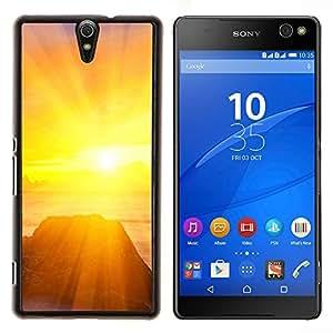 LECELL--Funda protectora / Cubierta / Piel For Sony Xperia C5 Ultra -- Puesta de sol Mar Beautiful Nature 25 --