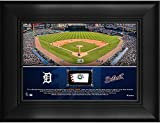 """Detroit Tigers Framed 5"""" x 7"""" Stadium Collage with a Piece of Game-Used Baseball - MLB Team Plaques and Collages"""