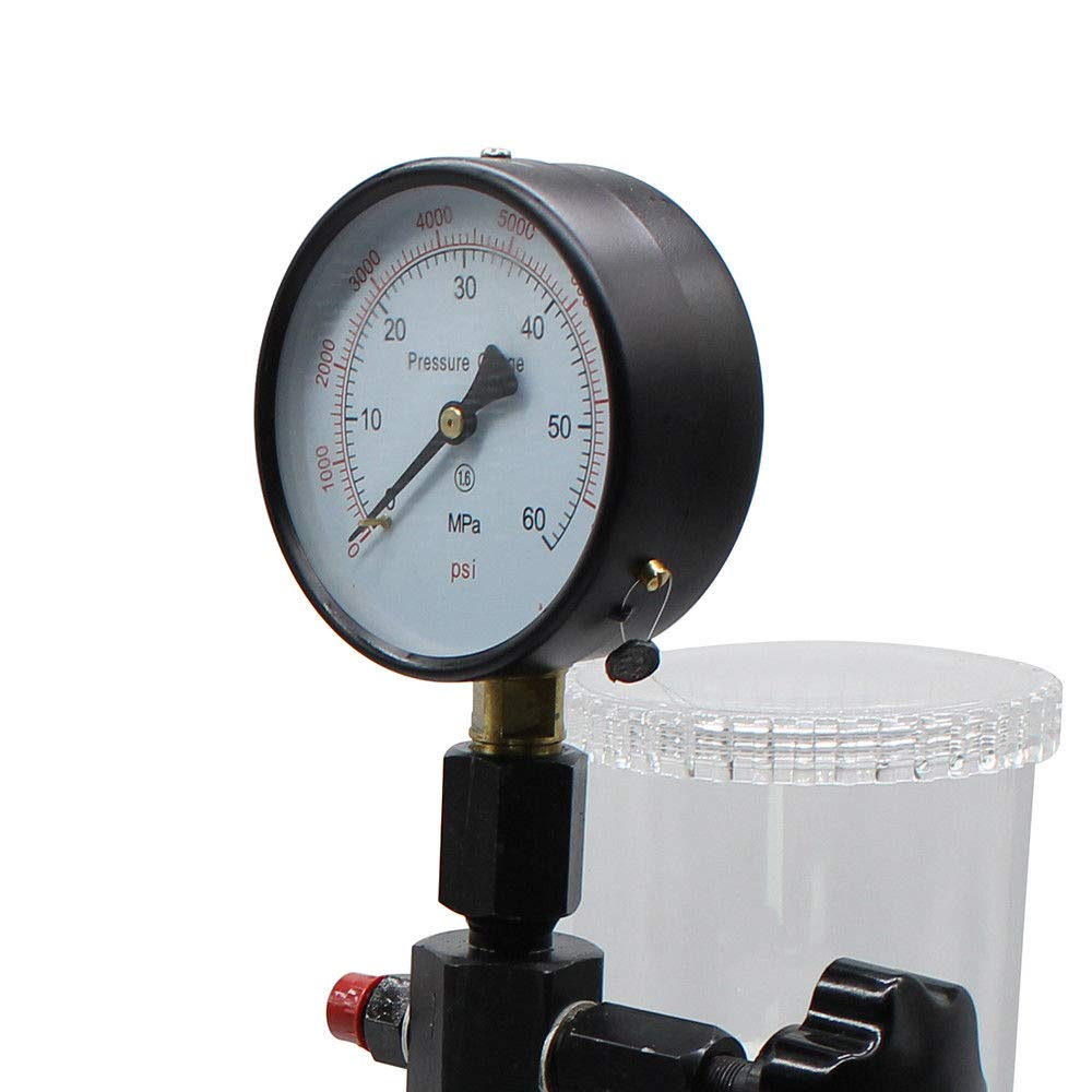 Heavy Duty Diesel Injector Nozzles Tester Device 0-600Bar Injection Pump Pressure Test