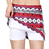 irene inevent Women's Casual Skorts with Underneath Shorts Lightweight Quick Dry Skirts for Running Tennis Golf Workout