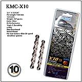 Bikeco KMC 9/10/11 Cadena de Bicicleta de Velocidad, KMC X9 X10 X11 X10EL X11EL Cadena de Bicicleta con eslabón perdido, Adecuado para Shimano Campagnolo SRAM