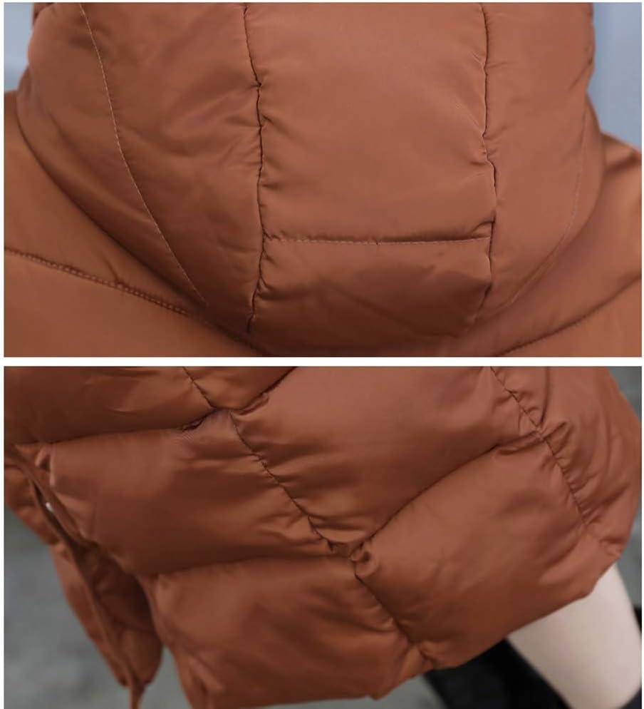 ZEIYUQI Manteau Femme Hiver Chaud À Capuche Veste Slim Jacket Manches Longues Épais Outwear Poches Casual Outwear Green