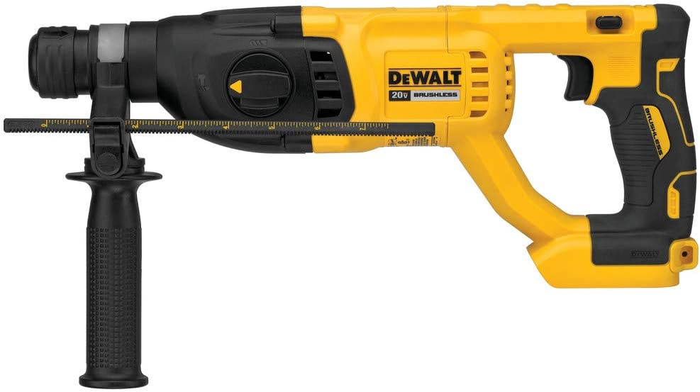 "DEWALT DCH133B 20V Max XR Brushless 1"" D-Handle Rotary Hammer Drill (Tool Only) (Renewed)"