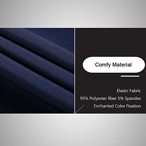 LTIFONE Mens Casual Jacket Zip up Lightweight Bomber Flight Sportswear Jacket Windbreaker Softshell with Ribbing Edge(Blue,L) by LTIFONE (Image #4)