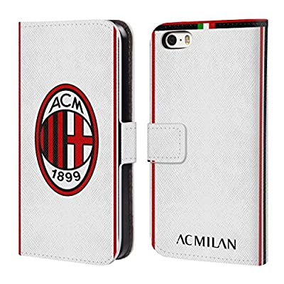 Head Case Designs Ufficiale AC Milan 2018/19 Kit Cresta Cover a Portafoglio in Pelle per Apple iPhone Telefoni