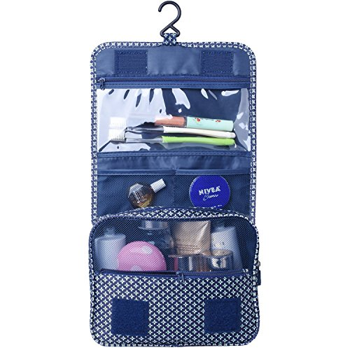 Heavy Duty Waterproof Hanging Toiletry Bag - Travel Cosmetic Makeup Organizer Bag for Women Girls Children Multifunction Travel Kit by Hokeeper (Image #1)