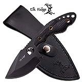 Cheap Elk Ridge ER-528BK-MC ER528BK-Brk Fixed Blade Hunter Black G-10