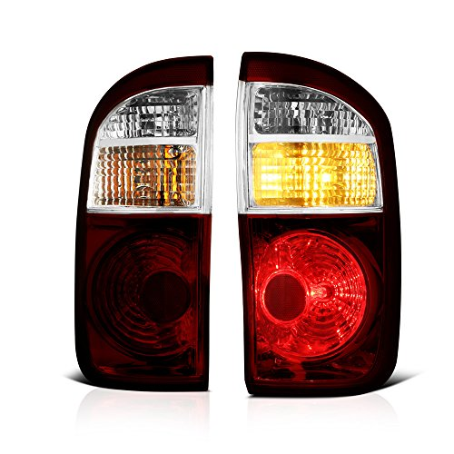 VIPMOTOZ Smoke Red Lens OE-Style Tail Light Lamp Assembly For 2004-2006 Toyota Tundra Pickup Truck Double Cab Model, Driver & Passenger Side ()
