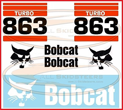 863 Decal Sticker Kit for Bobcat Skid Steers | Replaces OEM Model # ()