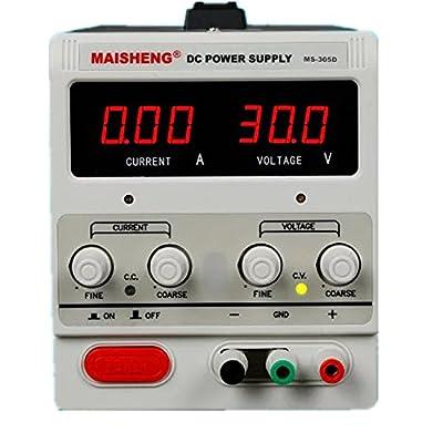 Aidetek 30V 5A 50Hz 90W Precision Variable Adjustable 0-30V 0-5A Power Supply USA warranty