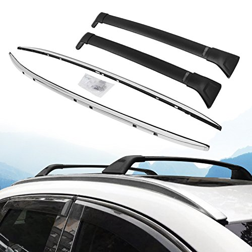 4 PC Roof Rail Rack + Cross Bar for Mazda CX-5 2017 2018 Luggage Baggage
