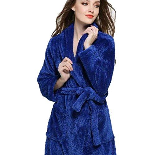 Señoras albornoz franela Larga Felpa Franela Pijama de Mujer, Suave Alta Calidad Bata de Coral Vellón, Casa, Baño: Amazon.es: Ropa y accesorios