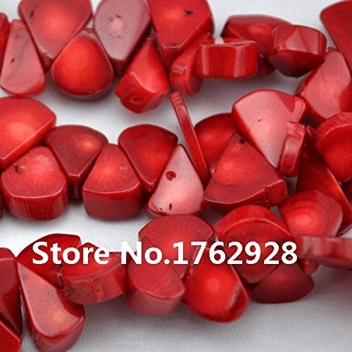 Calvas Stunning Red Charm Coral Beads 16inches One Full Strand Melon Seeds Coral Jewelry Wholesale Jewelry ()