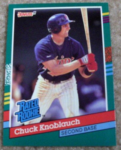 1991 Mlb Rookies - Chuck Knoblauch 1991 Donruss MLB Rookie Card