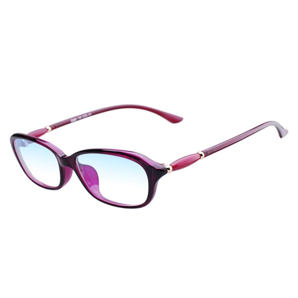 Magnifier Antibluee Light Folding Reading Glasses Portable Ultralight HD TR90 Antifatigue +2.0 ( color   PURPLE , Size   300 DEGREES )