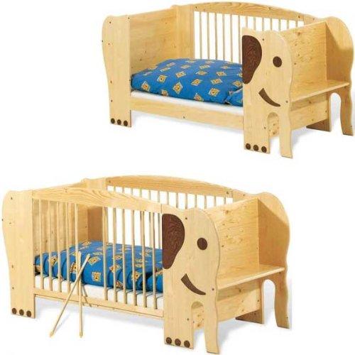 Pinolino 111303 - Kinderbett Elefant Jumbo lackiert