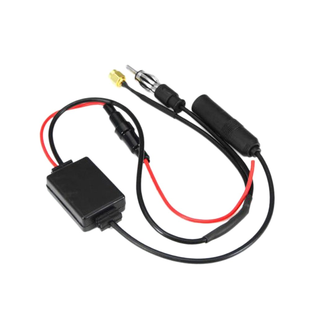 MagiDeal Car Radio FM AM Antenna Signal Amplifier Booster 12V for Marine Car Boat RV