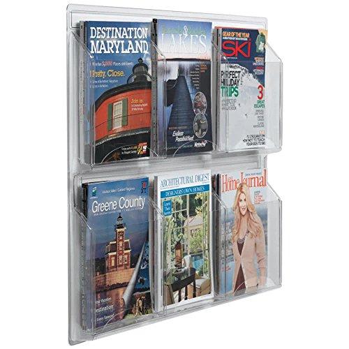 "TableTop King LRC103 30"" x 25"" Clear-Vu 6-Pocket Magazine Display"