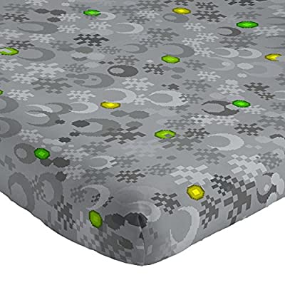 Mojang MineCraft Spawn Gray 4 Piece Full Sheet Set with Creeper