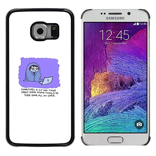 All Phone Most Case / Cute Picture Hard Case Protective Cover Case for Samsung Galaxy S6 EDGE // Funny Comic