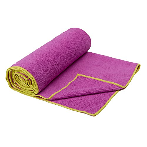 Gaiam Yoga Mat Towel, Orchid/Citron